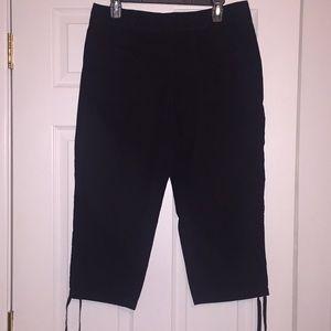 Ann Taylor Loft Black Capri Pants